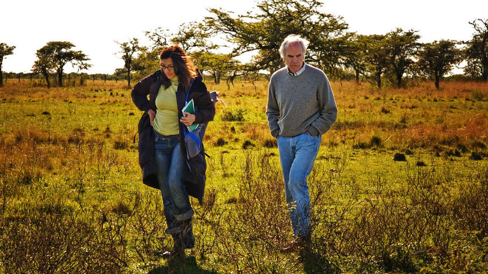 Foto: Imagen del encuentro con Douglas Tompkins, en 2007. (Sofía Moro)