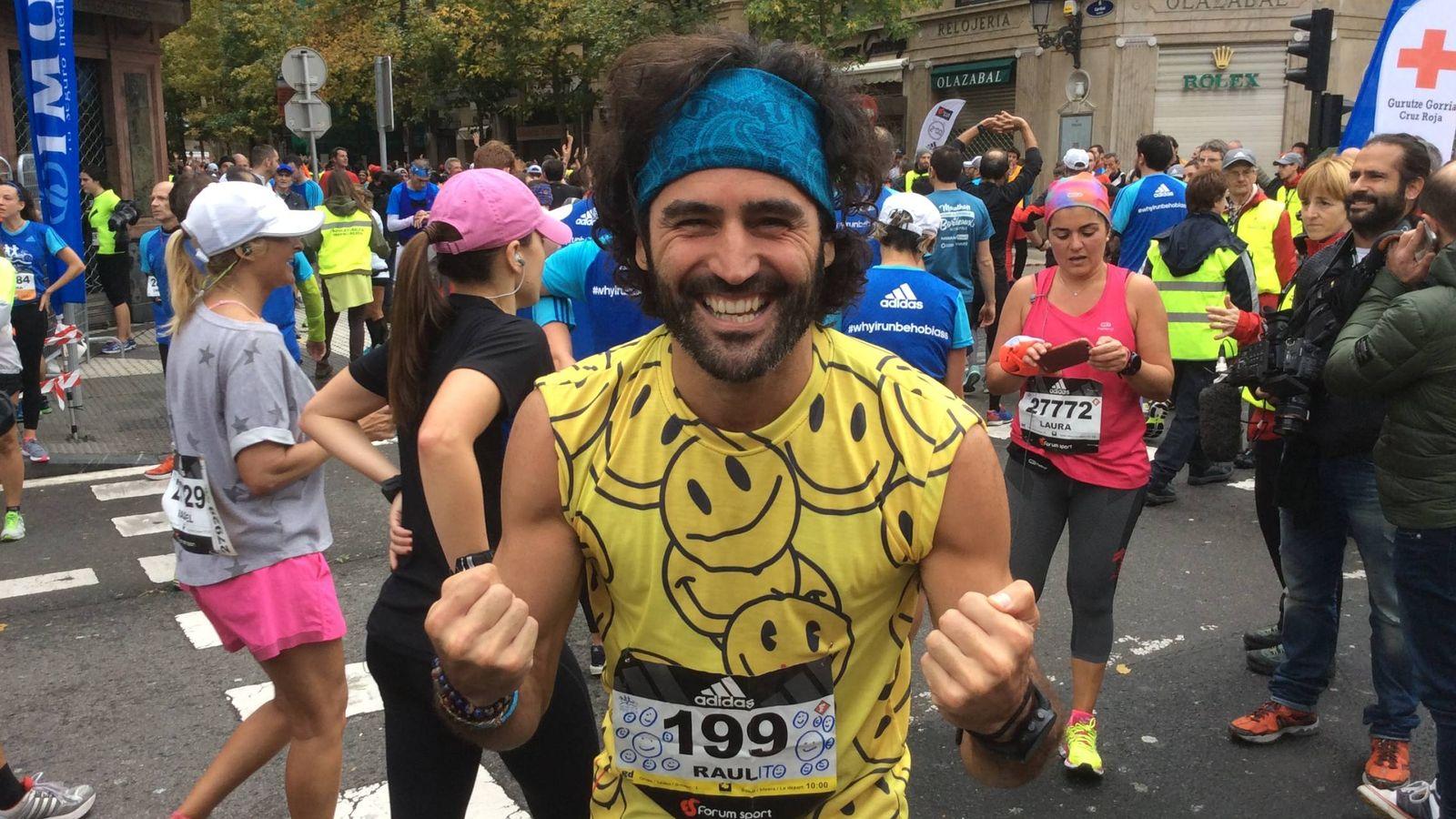 Foto: Raúl Gómez tras correr la Maraton de Behobia 2016   Alfonso Muñoz - VANITATIS