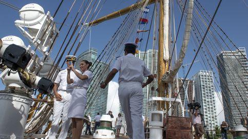 El buque-escuela, 'La libertad', arriba en Miami
