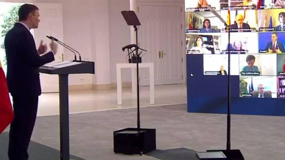 Foto: Pedro Sánchez, durante el acto de presentación del Plan de recuperación, Transformación y Resiliencia.