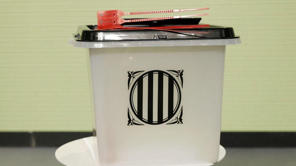 Foto: Una de las urnas utilizadas en el referéndum ilegal del 1 de octubre. (EFE)