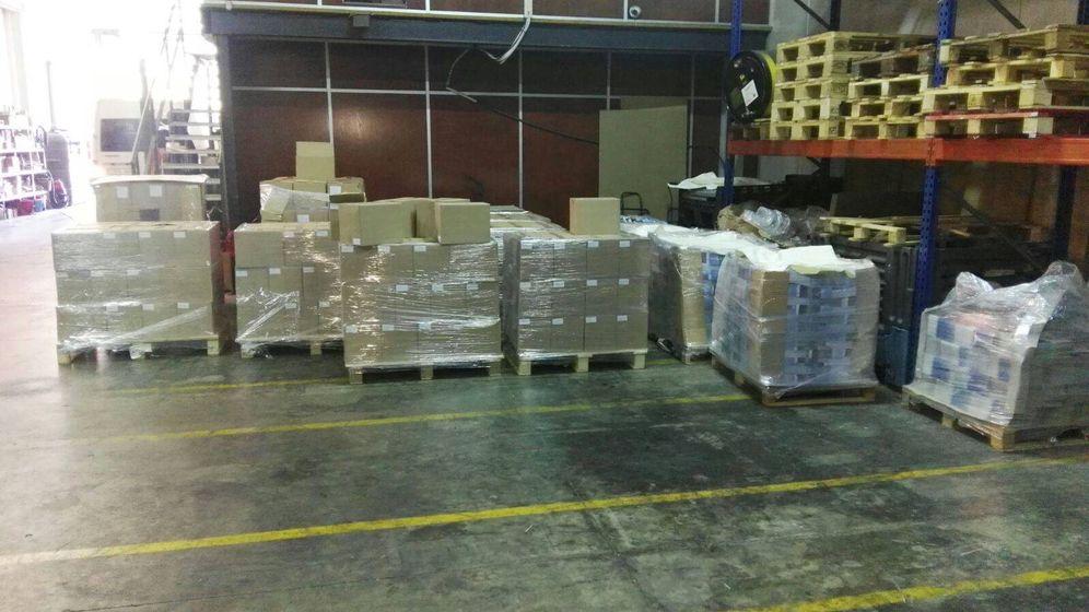 Foto: Material incautado por la Guardia Civil este domingo.