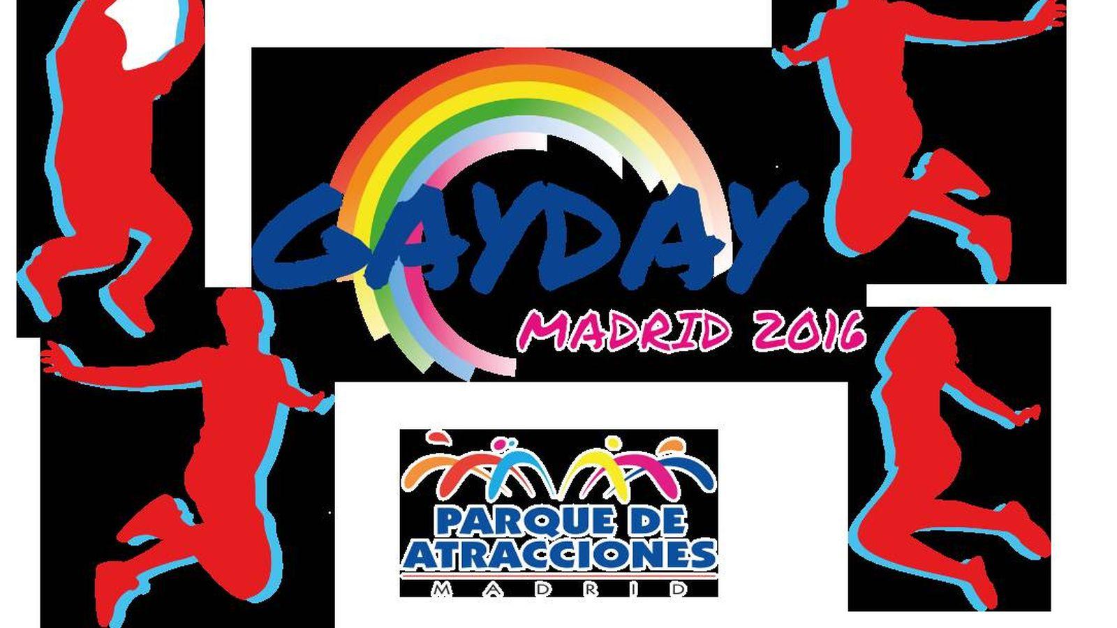 Foto: Logo del GayDay 2016 que acogerá el Parque de Atracciones de Madrid.