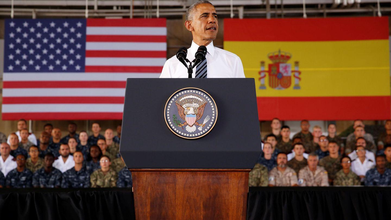 Visita de Obama a la base de Rota. (Reuters)