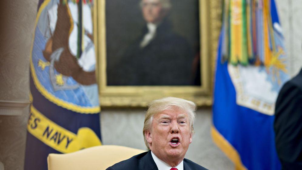 Foto: Trump durante la visita del secretario general de la OTAN a Washington en mayo (EFE)