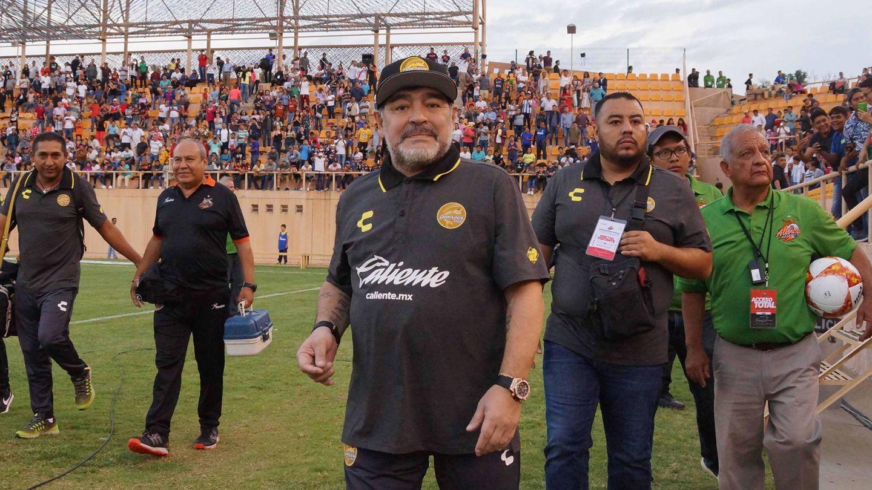 Maradona en su aventura mexicana. (Cordon Press)