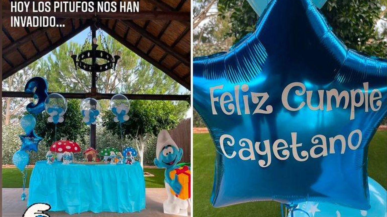 Dos imágenes de la fiesta temática de cumpleaños. (IG @evagonzalezoficial)