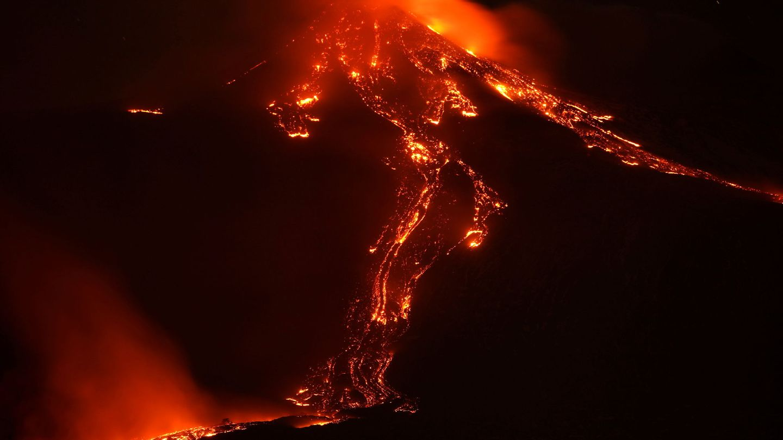El volcán Etna en erupción. (Reuters)