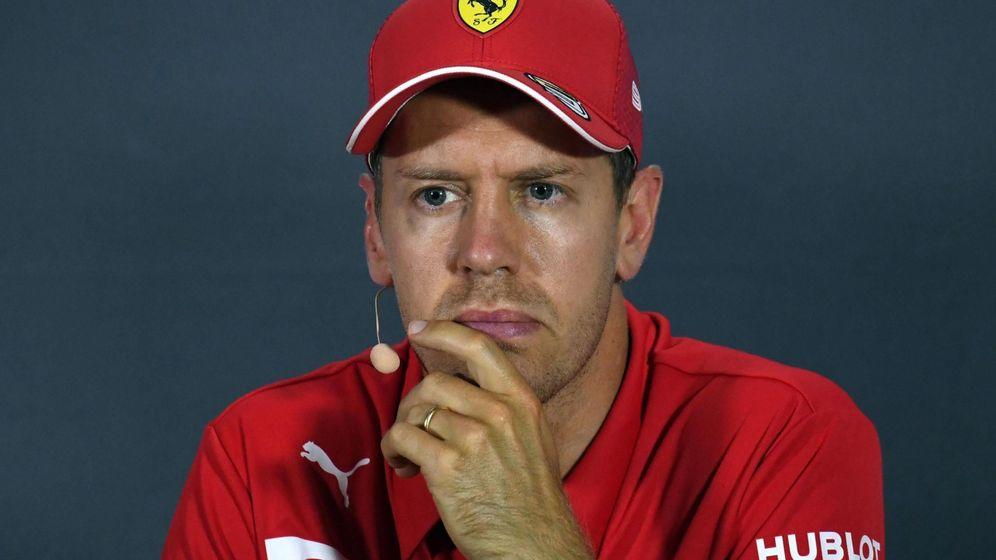 Foto: Sebastian Vettel en la rueda de prensa de pilotos de este jueves. (EFE)