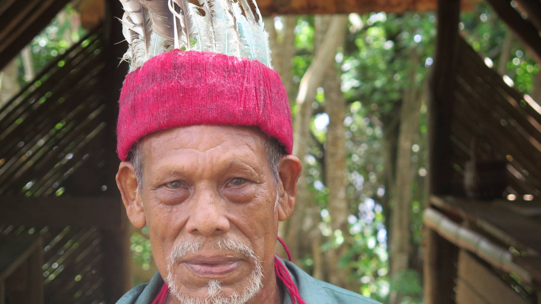Un exjefe de la tribu kalinago. (J. B.)