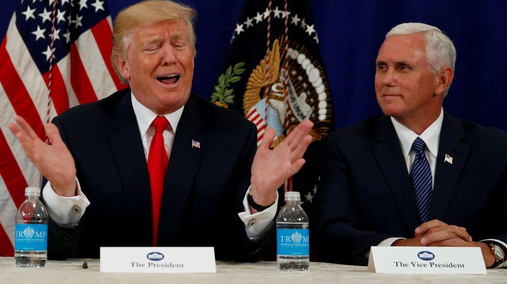 Foto: Declaraciones de Trump ante la prensa el jueves 10 de agosto. (Reuters)