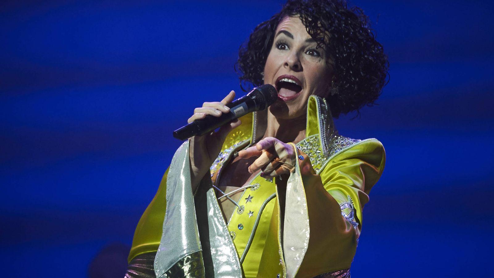 Foto: Nina en el musical 'Mamma mia'. (Gtres)