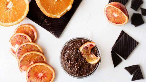 Pudin de chía y chocolate a la naranja