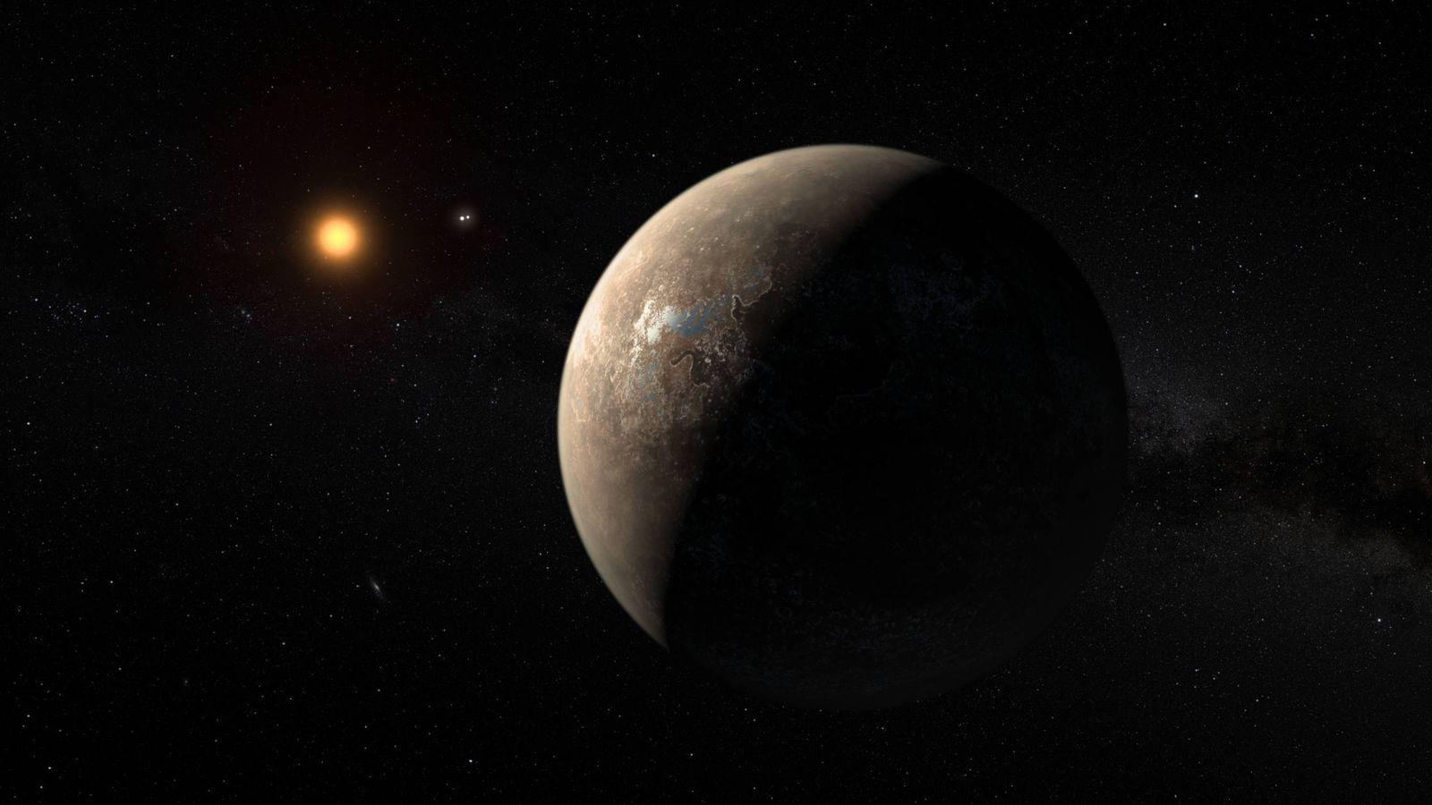Foto: Ilustración del nuevo planeta orbitando su enana roja. (Nature)