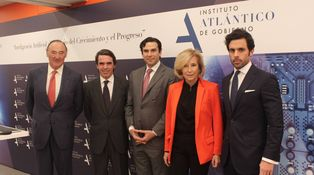 Soria, Botella, Alonso y José María Aznar Jr. El curso del instituto de Aznar