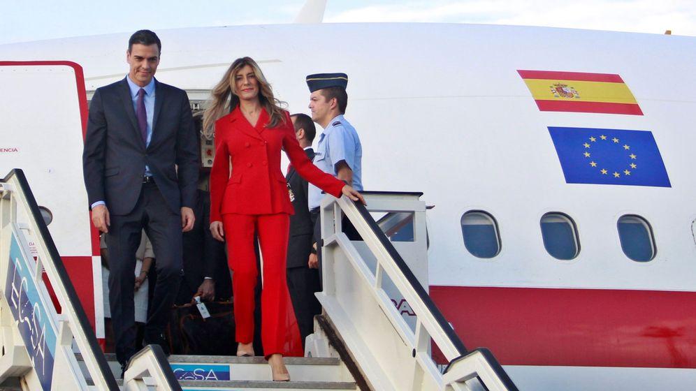 Foto: Begoña Gómez llega a La Habana. (EFE)