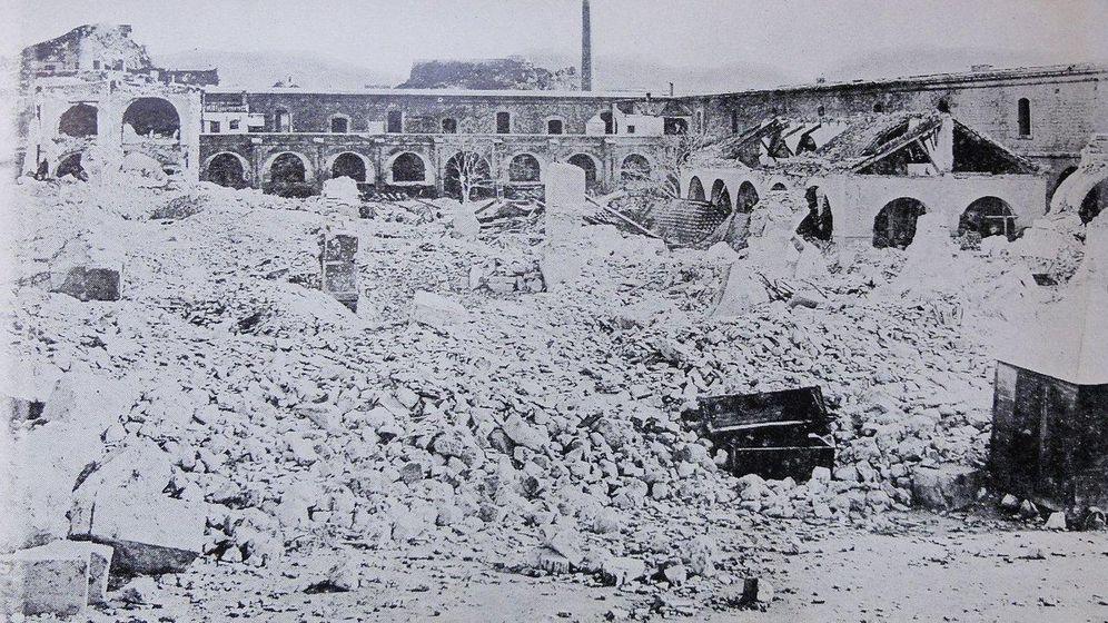 Foto: El parque de artillería de Cartagena quedó seriamente dañado tras la confrontación.
