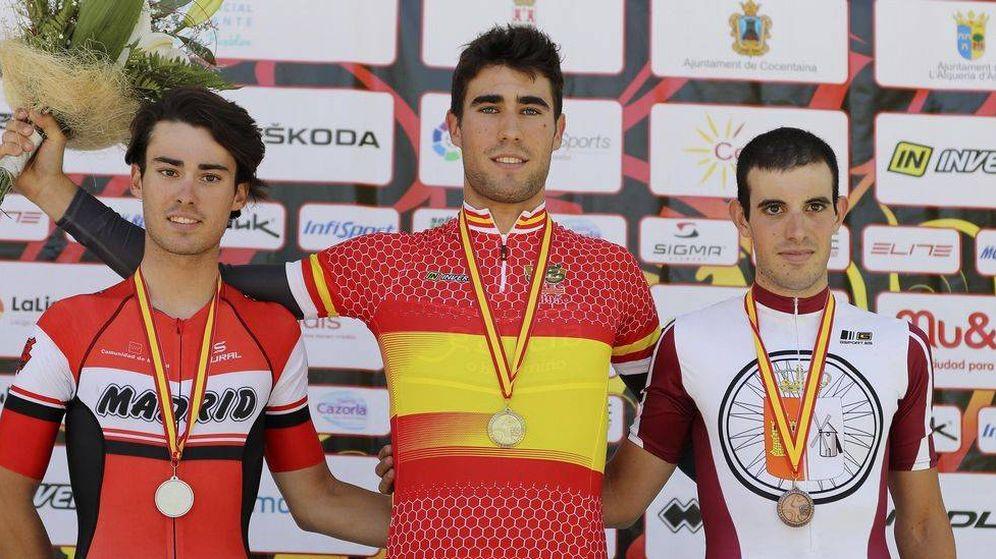 Foto: Martín Bouzas, ganador del campeonato de España de CRI sub-23. (RFEC)