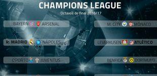 Post de Real Madrid-Nápoles, Leverkusen-Atlético, PSG-Barça  y Sevilla-Leicester, en octavos