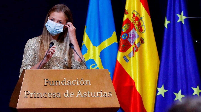 La Princesa, durante el discurso. (Reuters)