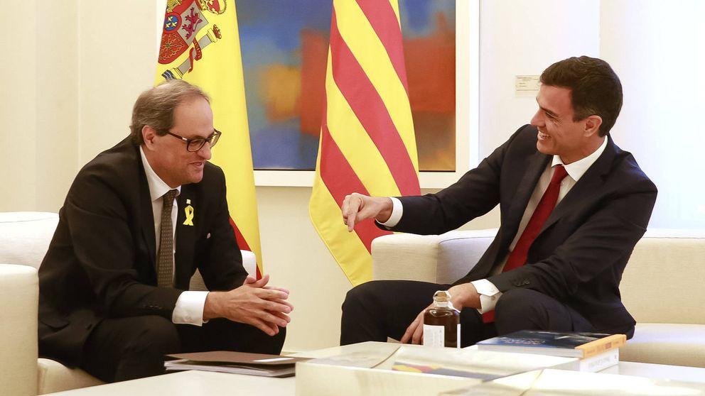 Sánchez va a buscar una foto en Barcelona y Torra, que fracase el diálogo