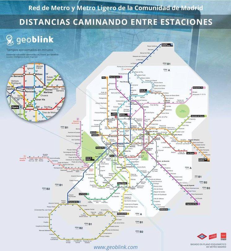 Noticias de Madrid Mapa Metro Madrid un nuevo plano que calcula