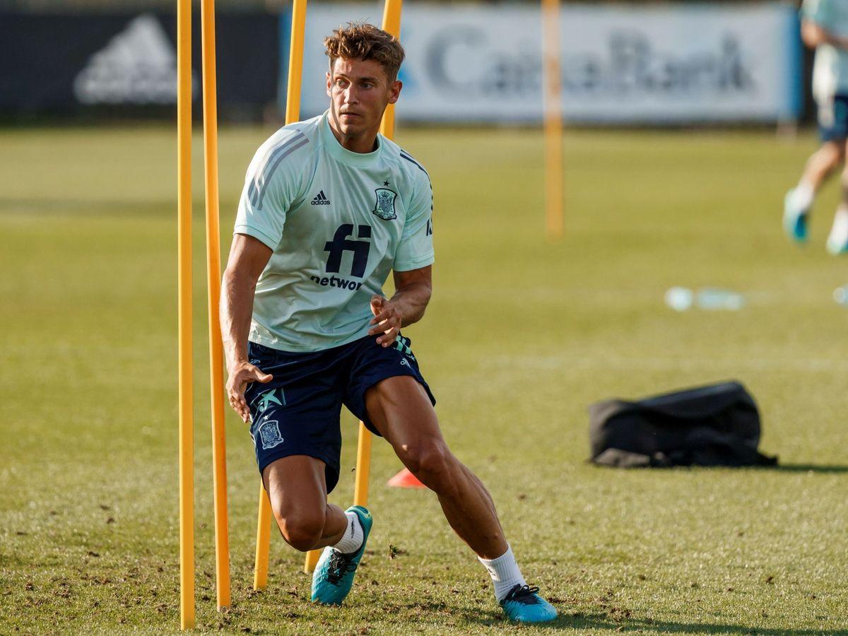 Foto: Marcos Llorente, durante un entrenamiento de la Selección. (EFE)