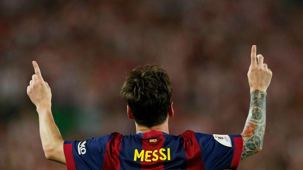 Foto: Lionel Messi, con un gesto de celebración. (EFE)
