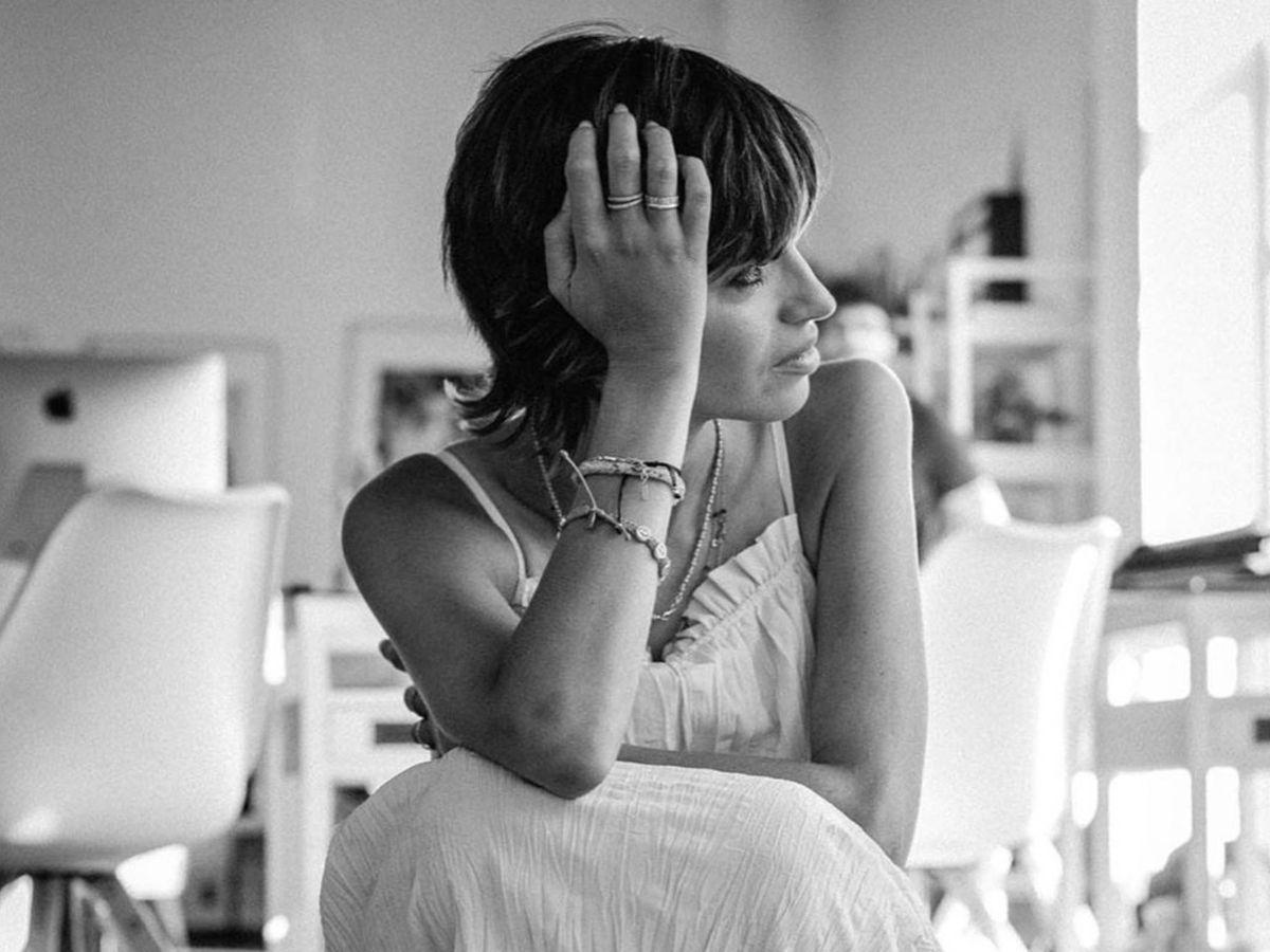 Foto: Sara Carbonero, en una de sus primeras imágenes con el cabello corto. (Instagram @saracarbonero)