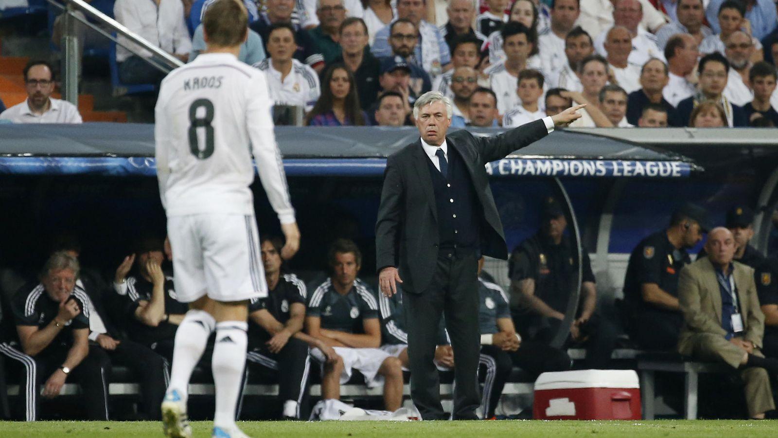 Foto: Carlo Ancelotti en su último partido con el Real Madrid.