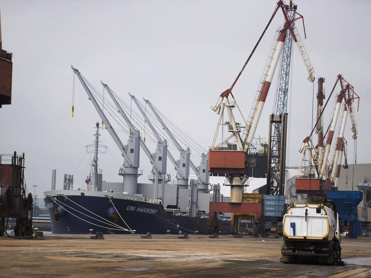 Foto: Imagen de grúas en el puerto de Santander. (EFE)