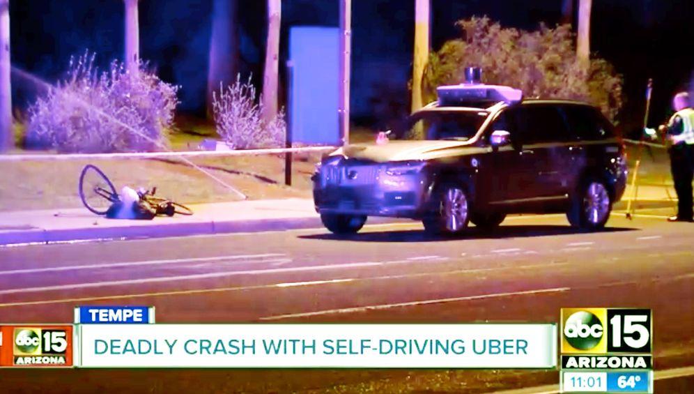 Foto: Un coche de Uber causa el primer atropello mortal de un vehículo autónomo. (Imagen: abc)