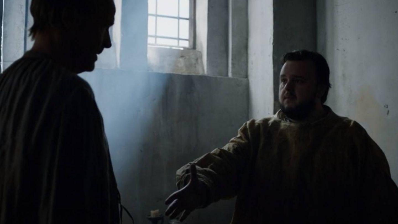 Imagen del tercer capítulo de la séptima temporada con Samwell y Ser Jorah