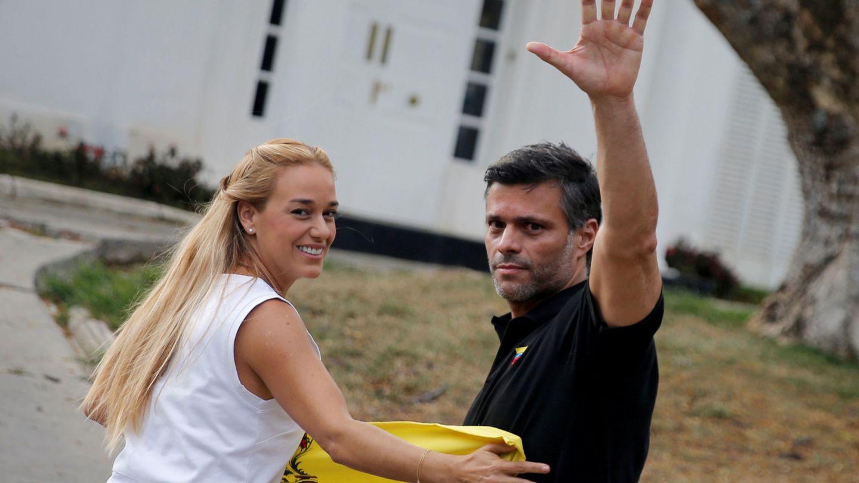 Lilian Tintori y Leopoldo López. (Reuters)