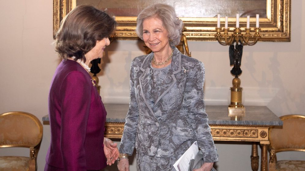 Foto: La reina Sofía junto a la reina Silvia. (EFE)