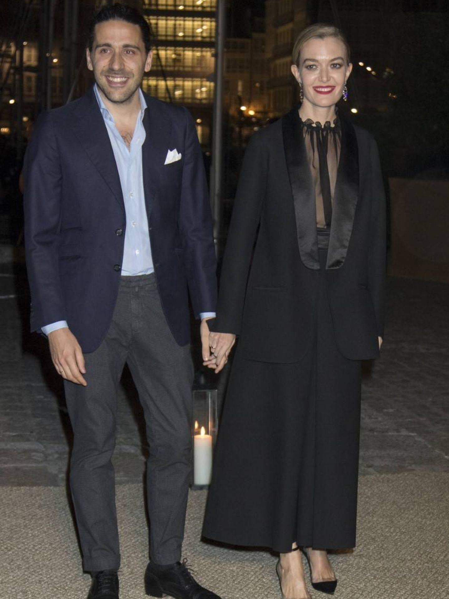 Carlos y Marta en la fiesta de su boda.  (Getty)