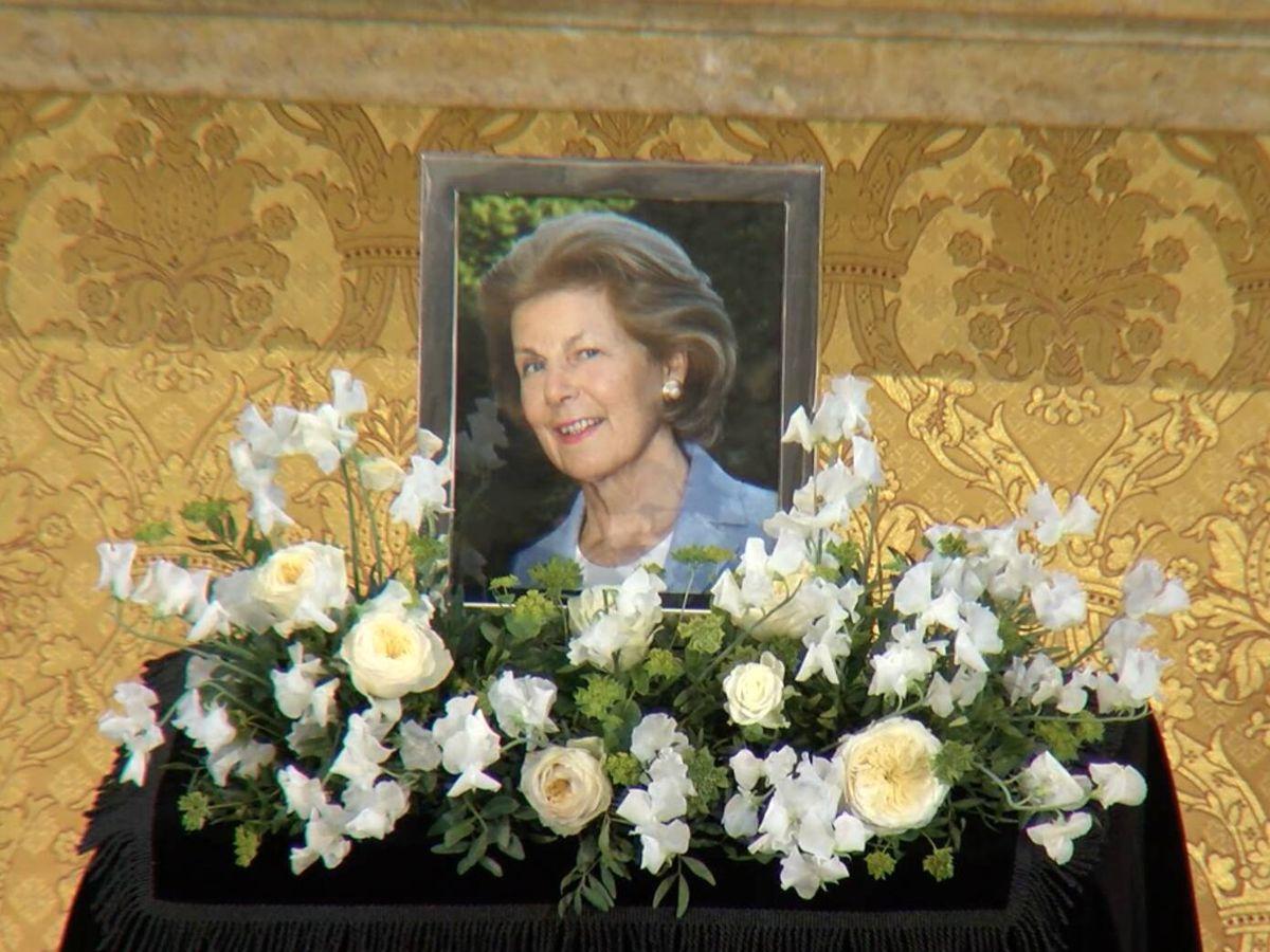Foto: Imagen final de la retransmisión del funeral de Marie de Liechtenstein. (Landeskanal.li)