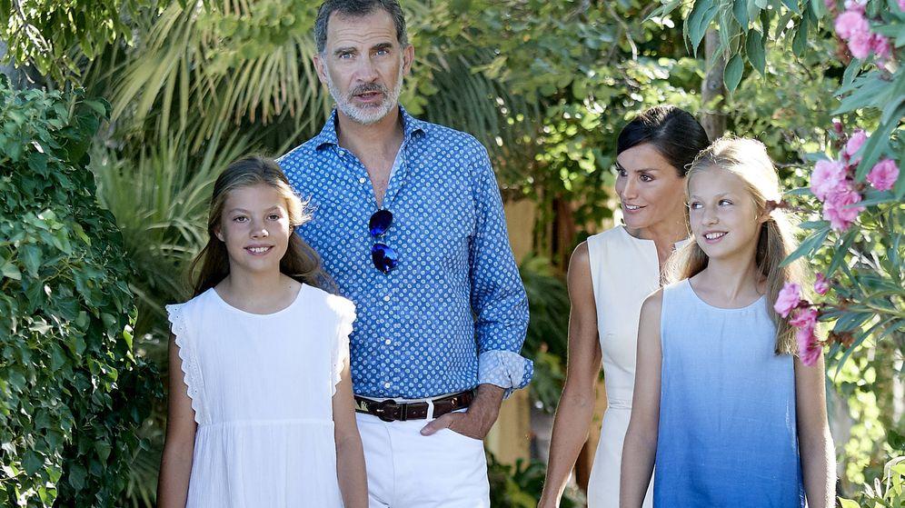 Foto: Felipe VI, doña Letizia y sus hijas. (Getty)