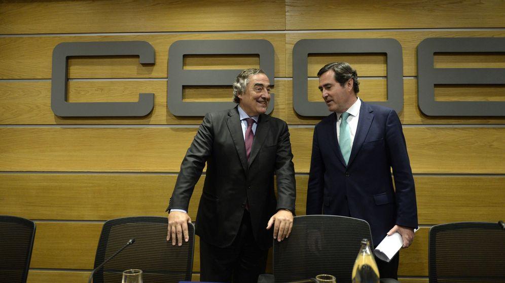 Foto: Los presidente de CEOE y Cepyme, Juan Rosell (i) y Antonio Garamendi. (EFE)