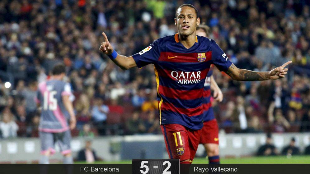 Foto: Neymar celebra uno de sus cuatro tantos (Reuters).