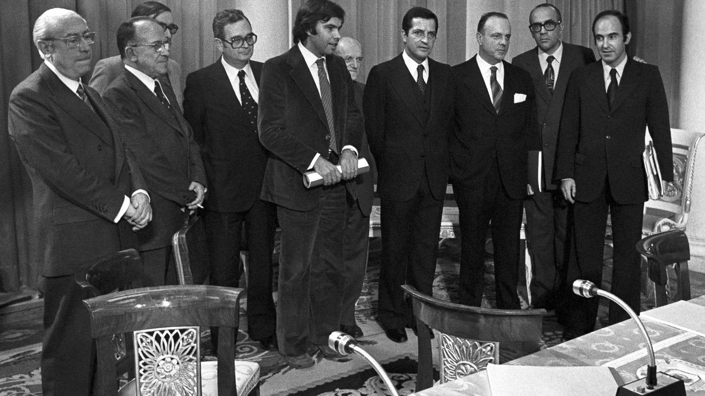 Reunión política en la cumbre durante los años de la Transición (EFE)
