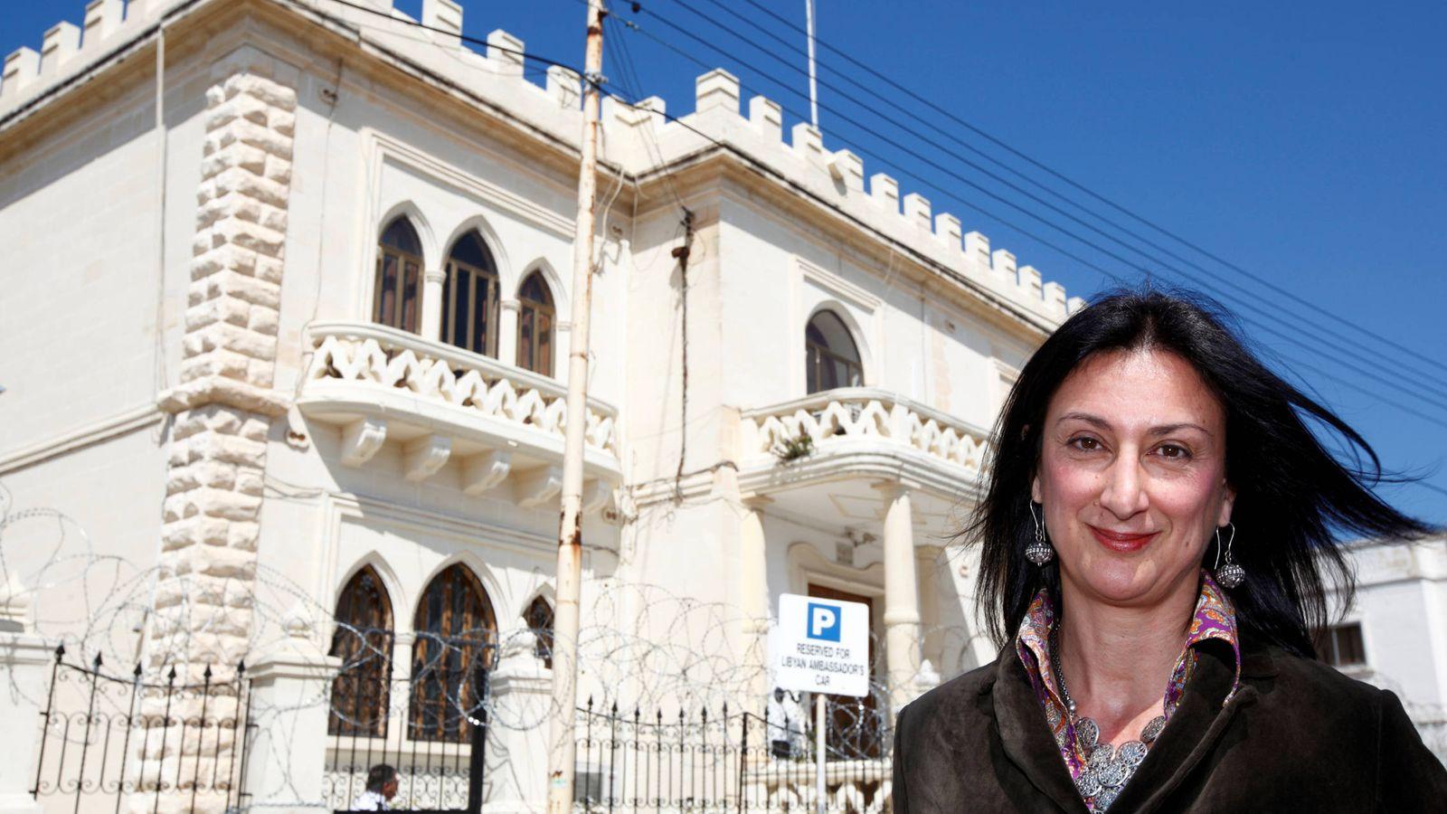 Foto: La periodista Daphne Caruana Galizia, asesinada en Malta este mes de octubre, en Valletta. (Reuters)
