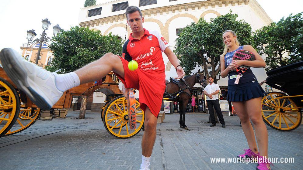 Foto: Paquito Navarro en el Open de Sevilla (World Padel Tour)