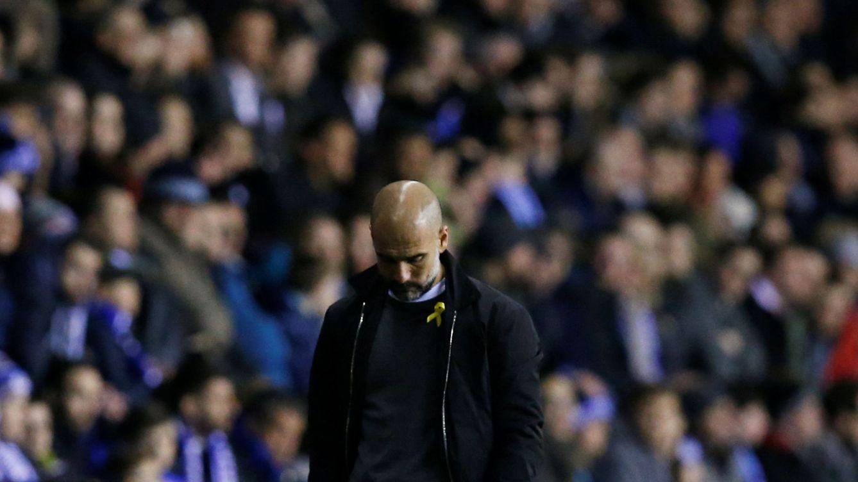 La noche más oscura de Guardiola: vencido por un 'tercera' y pelea en el vestuario