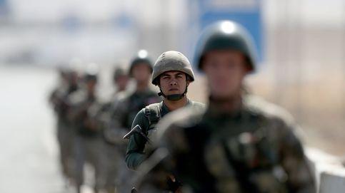 Soldados turcos en la frontera Turco-iraquí