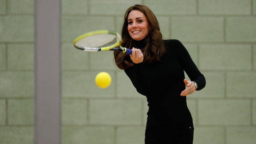 Foto: La duquesa de Cambridge practicando tenis. (Getty Images)