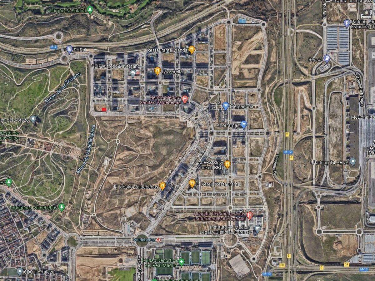 Foto: Vista aérea de Valdebebas. (Google Maps)