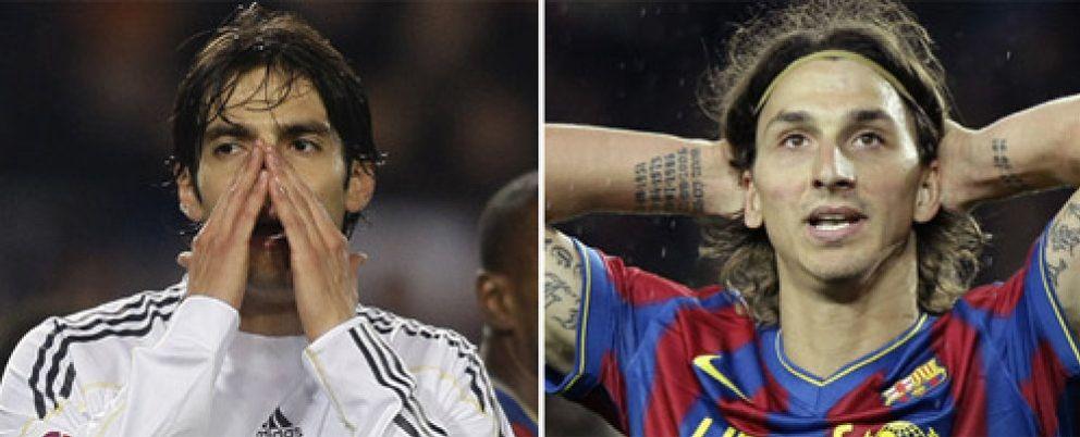 Kaká e Ibrahimovic se perderán el 'Clásico'