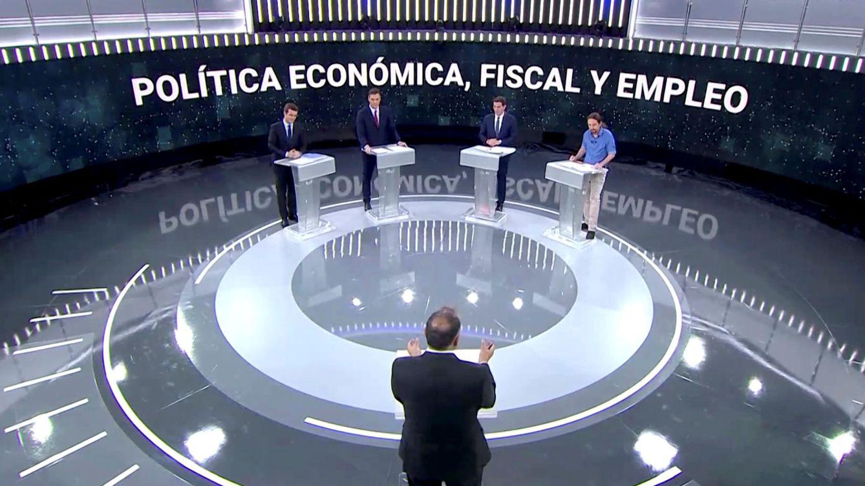 Foto: Los cuatro candidatos, durante el debate de TVE. (Reuters)