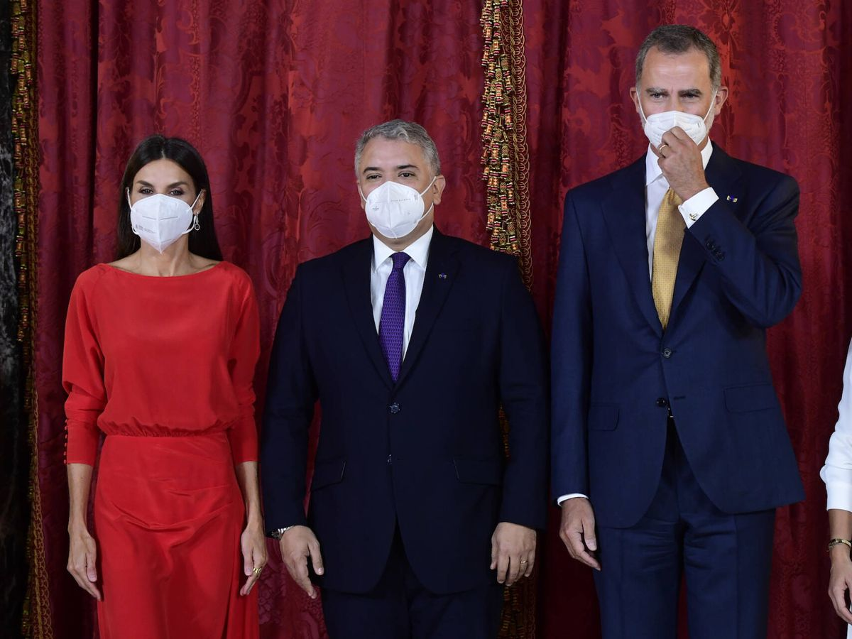 Foto: Los Reyes, con el presidente de Colombia. (Limited Pictures)